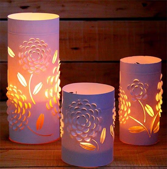 Luminária papel