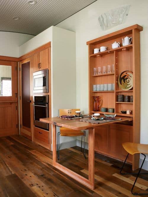 Mesa dobrável de parede de madeira ideias