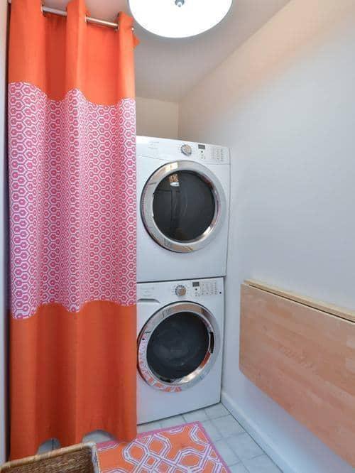 Mesa dobrável de parede de madeira para lavanderia