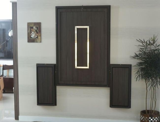 Mesa dobrável de parede para churrasco preta