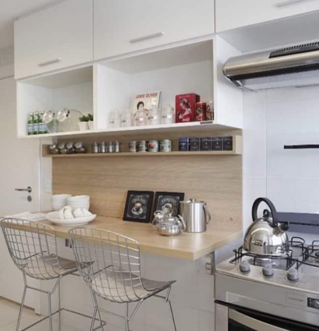 Mesa dobrável de parede para cozinha grande