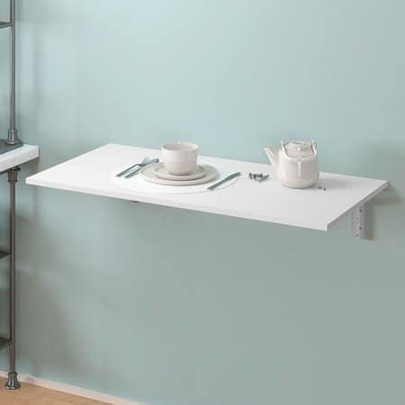 Mesa dobrável de parede para cozinha simples