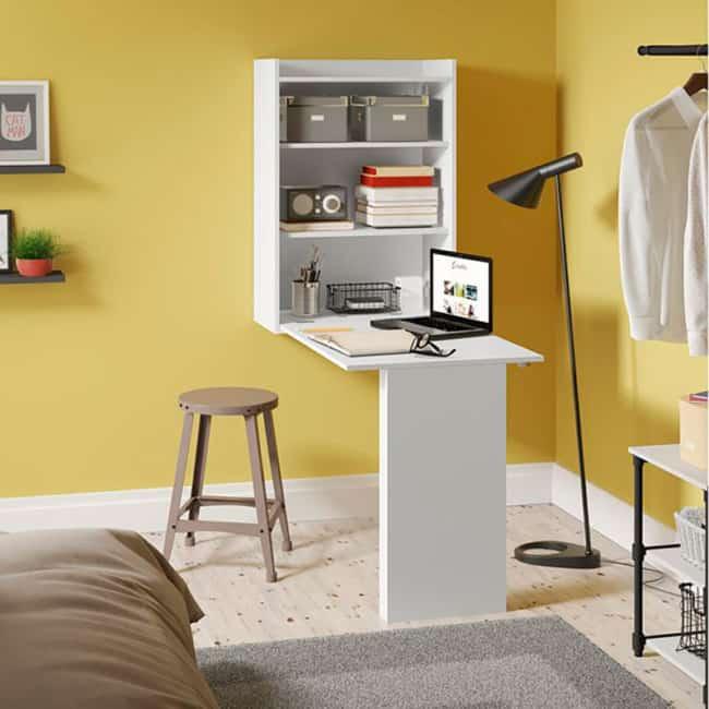 Mesa dobrável de parede para quarto moderna