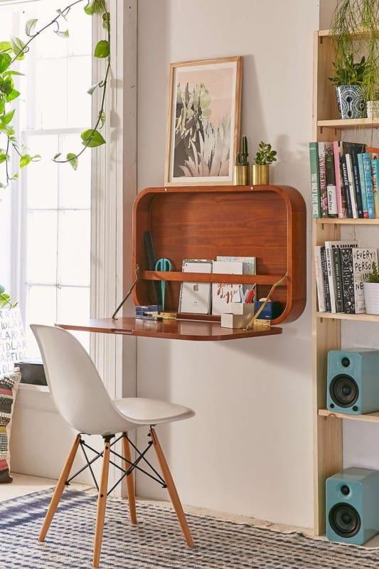 Mesa dobrável de parede para quarto retro