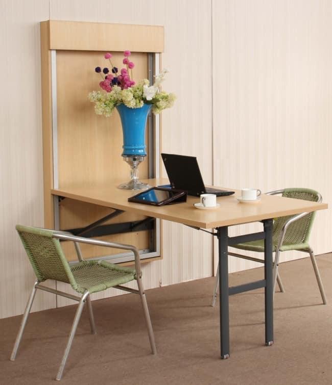Mesa dobrável de parede para quarto