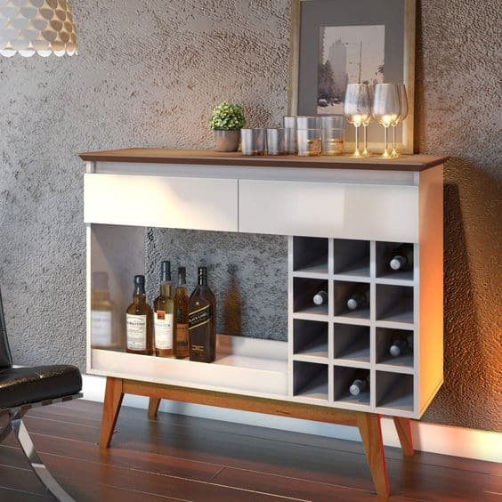 Modelos de aparador bar branco