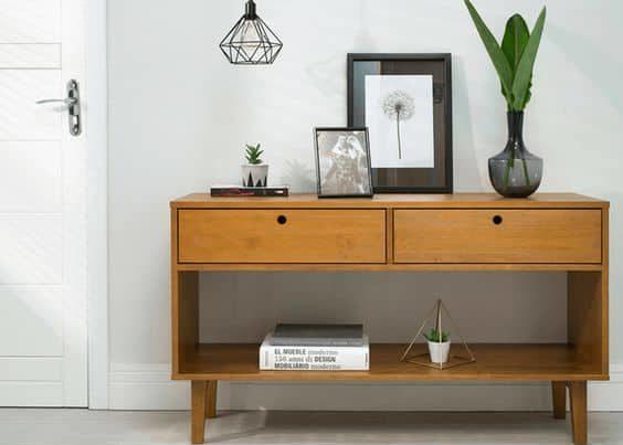 Modelos de aparador de madeira com duas gavetas