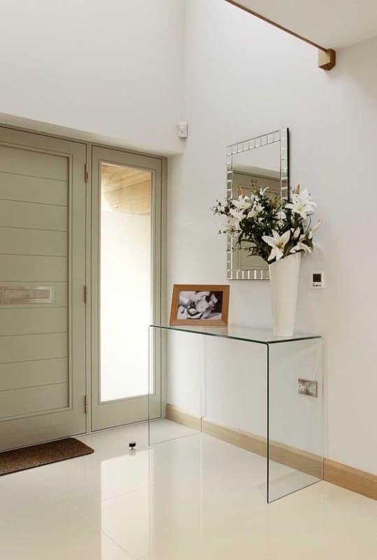 Modelos de aparador de vidro para sala de estar