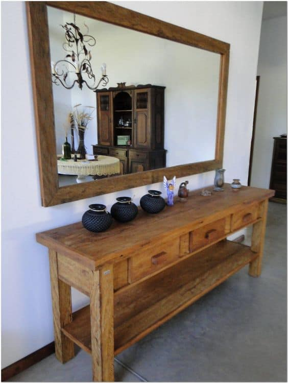 Modelos de aparador rústico para sala de estar