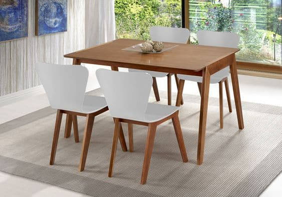 Modelos de mesa de jantar de quatro cadeiras