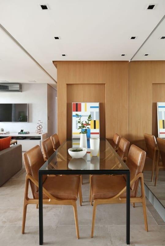 Modelos de mesa de jantar de vidro industrial