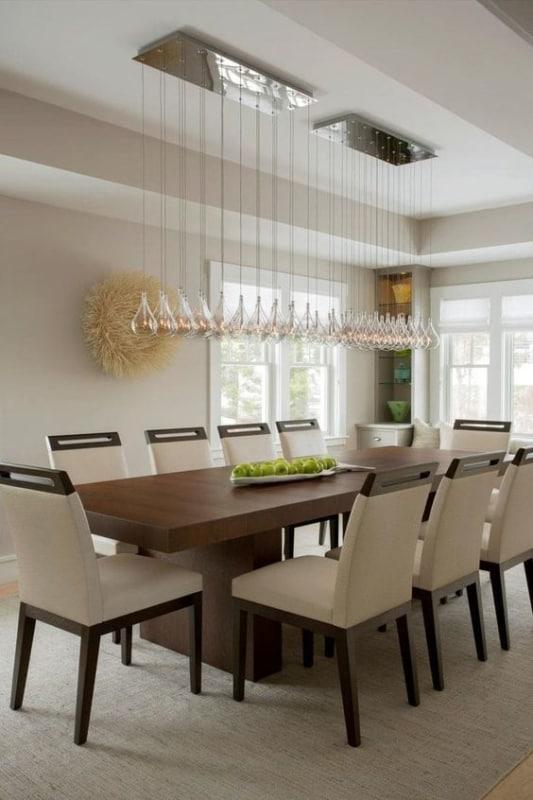 Modelos de mesa de jantar moderna de 10 cadeiras