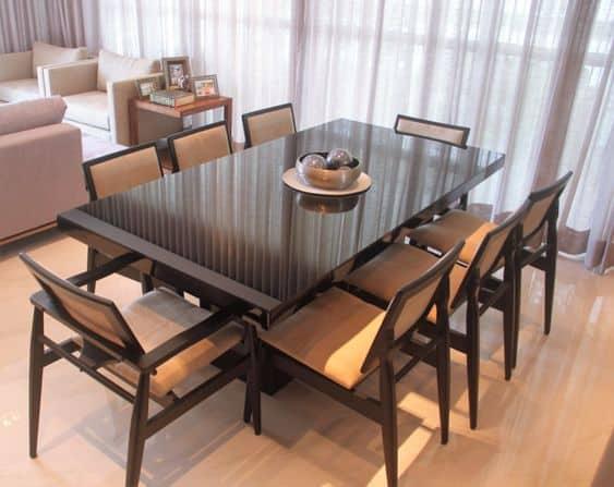 Modelos de mesa de jantar moderna de 8 cadeiras