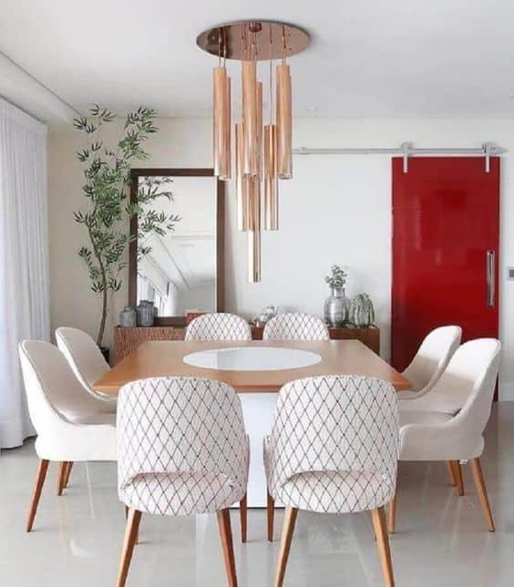 Modelos de mesa de jantar quadrada de 8 lugares