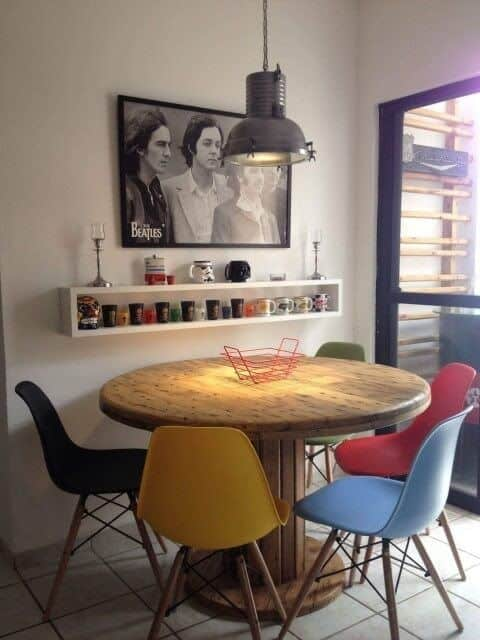 Modelos de mesa de jantar redonda de madeira 1