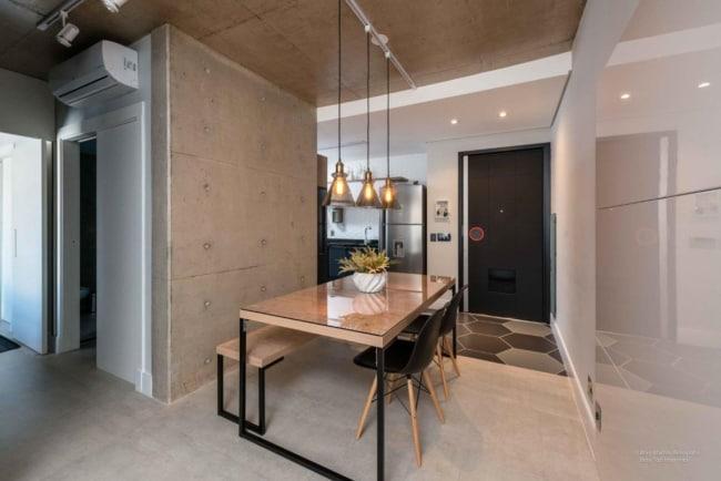 Modelos de mesa de jantar retangular de madeira e vidro