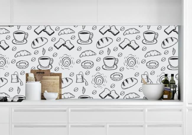 Papel contact café da manhã para cozinha