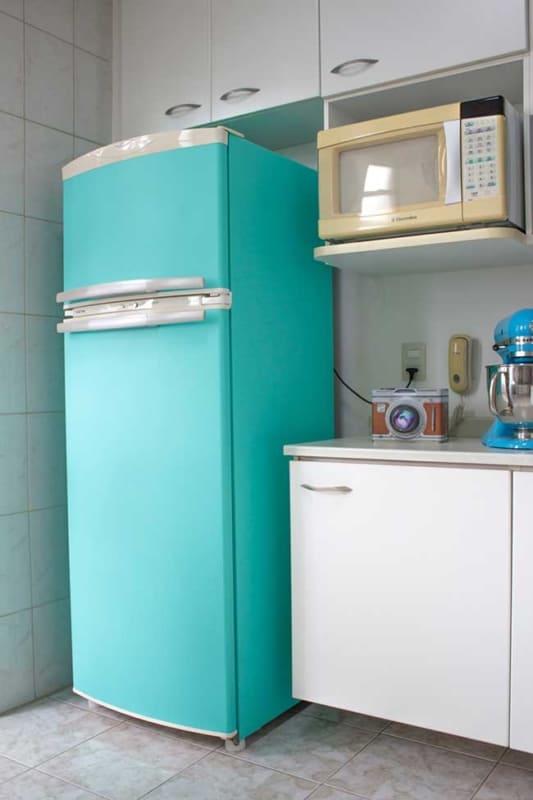 Papel contact geladeira azul