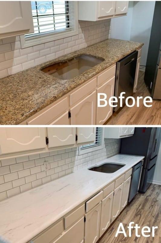 Papel contact para cozinha antes e depois 1