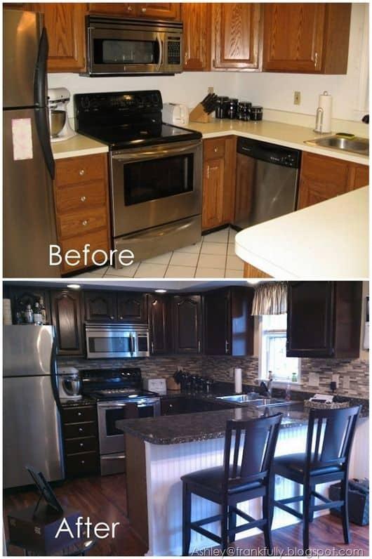 Papel contact para cozinha armario de madeira para madeira escura