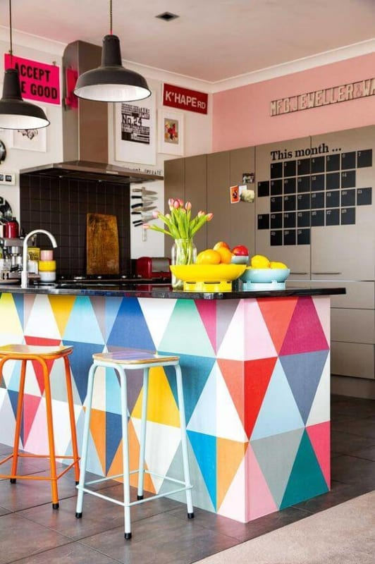 Papel contact para cozinha colorido