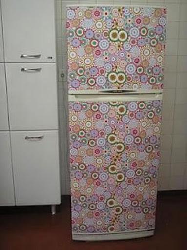 Papel contact para cozinha geladeira colorida