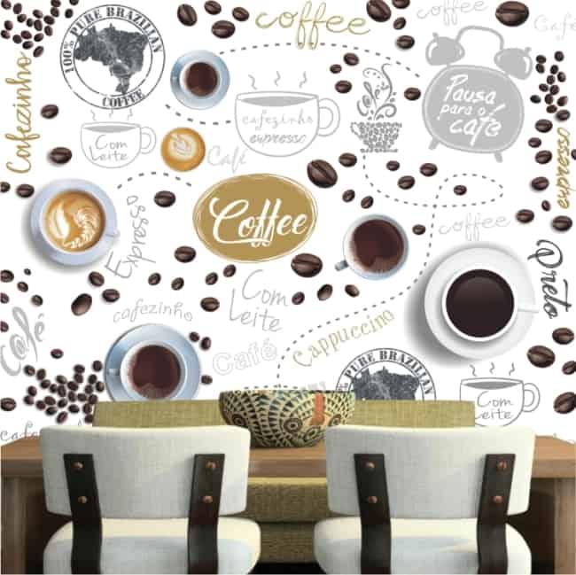 Papel contact para cozinha parede café