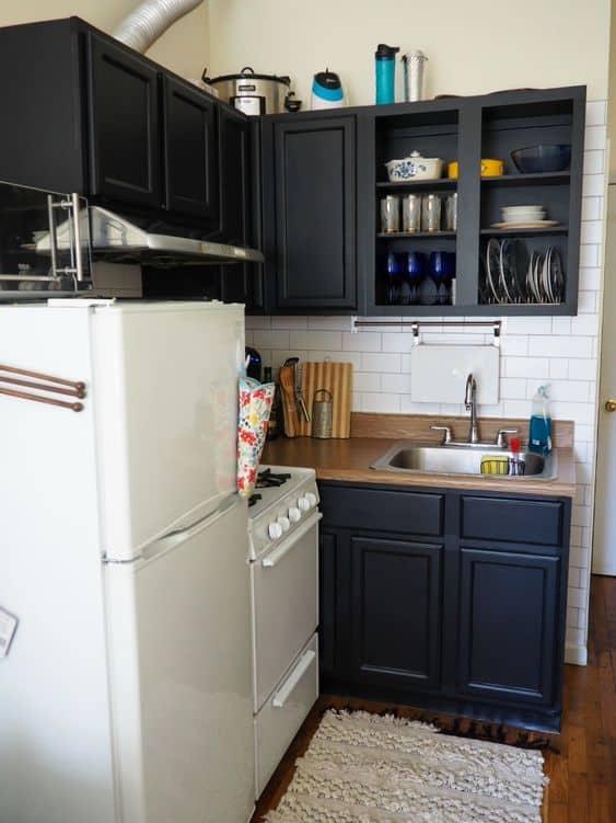 Papel contact para cozinha preto