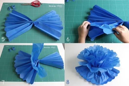 Pompom azul