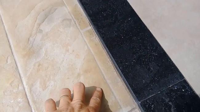 Soleira em granito preto