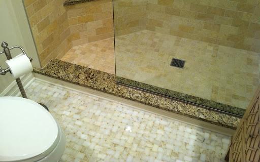 Soleiras de granito no box do banheiro
