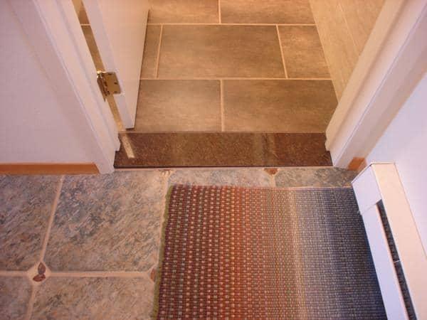 Tipo de Soleiras de granito no chão da porta