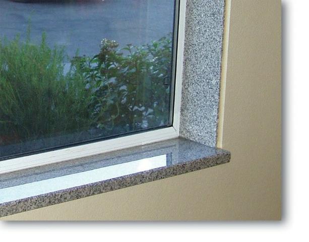 Tipos de soleiras de granito na janela