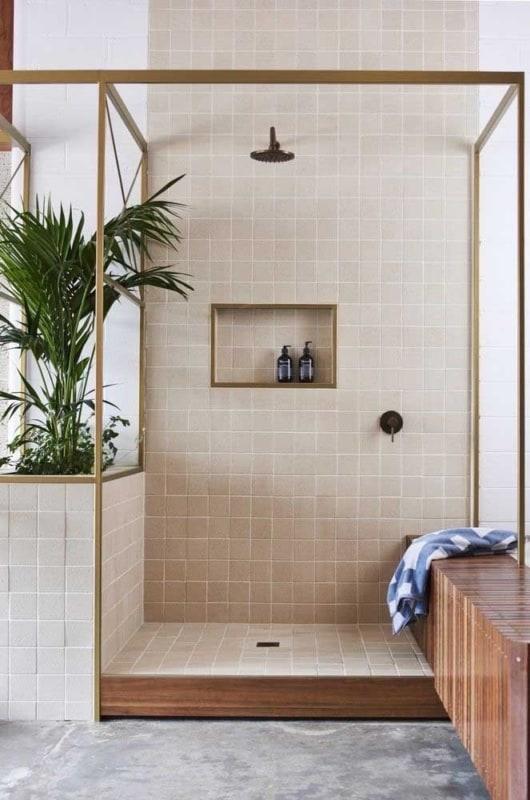 banheiro decorado com Cor palha