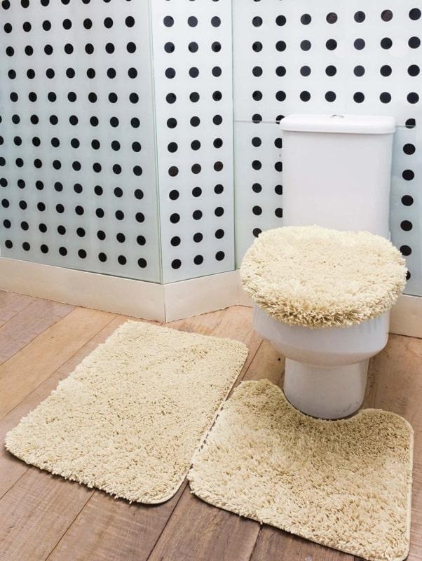 banheiro pequeno com Cor palha