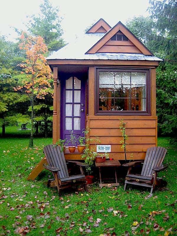 casas baratas tiny house no jardim