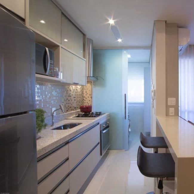 cor nude em cozinhas pequenas