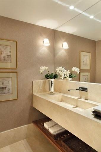 cor nude na decor do banheiro