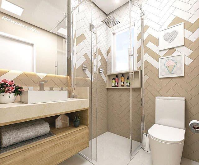 cor nude na pia do banheiro