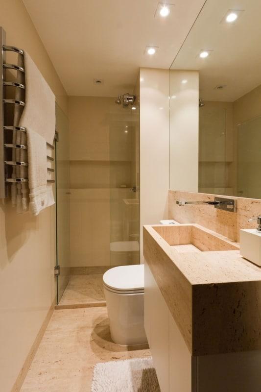 cor nude no banheiro pequeno