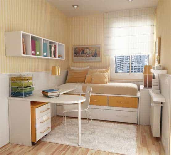 cor nude no quarto