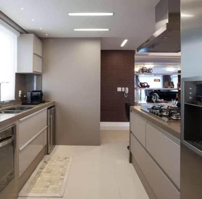 cozinha decorada com cor nude
