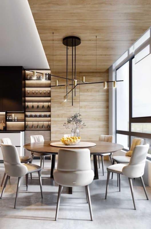 cozinha moderna com Cor palha