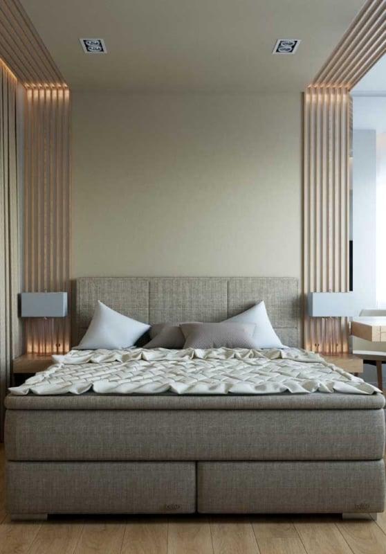 decoração de quarto com Cor palha