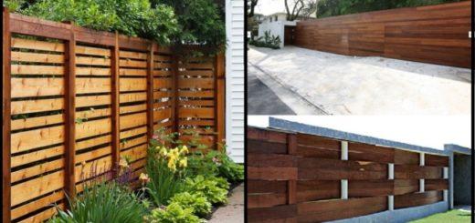 fotos e modelos de muro de madeira