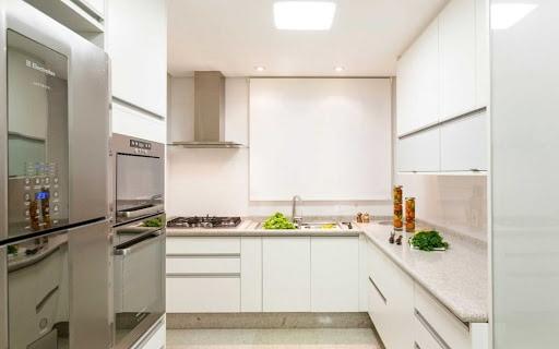 granito branco Itaúnas em cozinhas