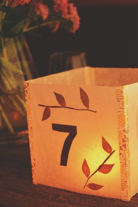 ideia de luminaria de papel