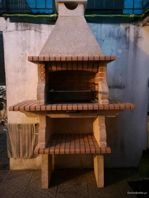 ideia de tijolo refratário em churrasqueira