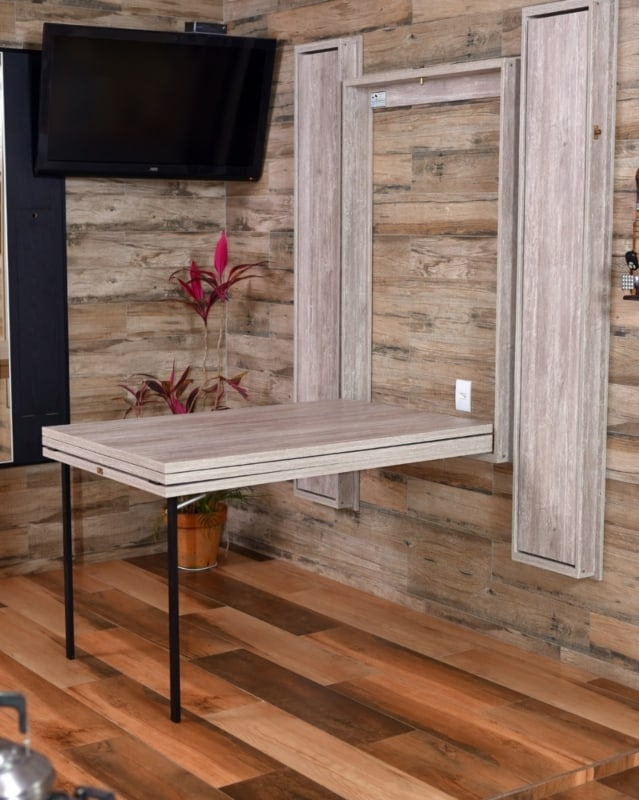 ideias de Mesa dobrável de parede para churrasco