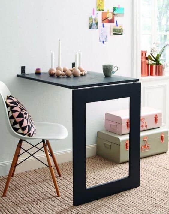 linda Mesa dobrável de parede para quarto